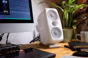 The iLoud MTM desktop speaker.