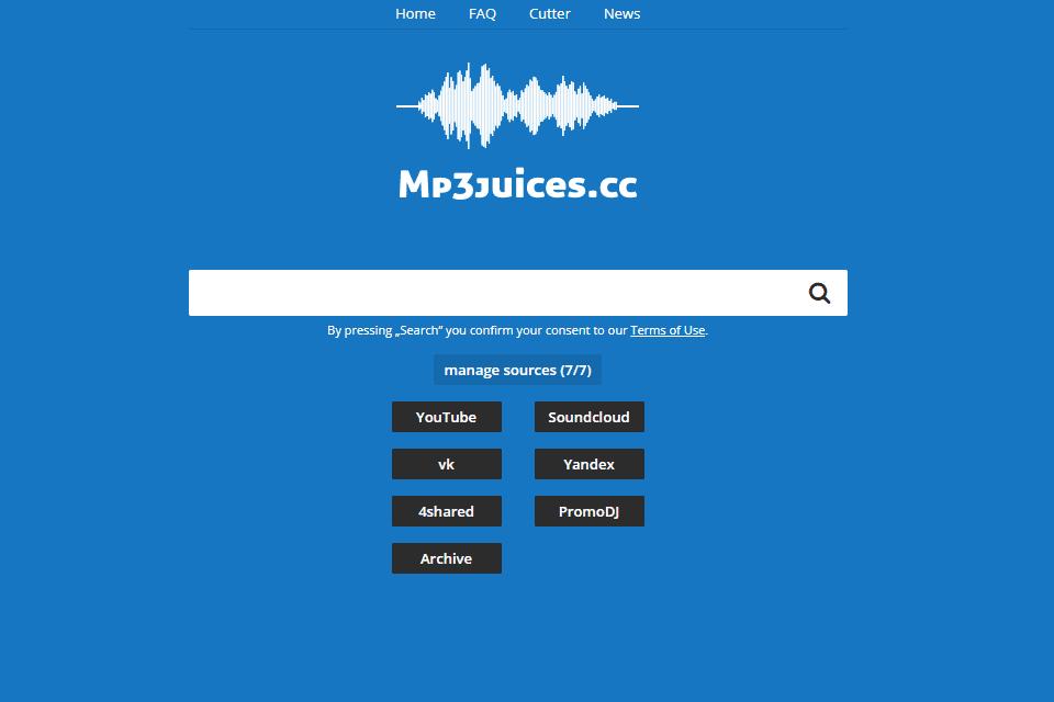 MP3Juices website