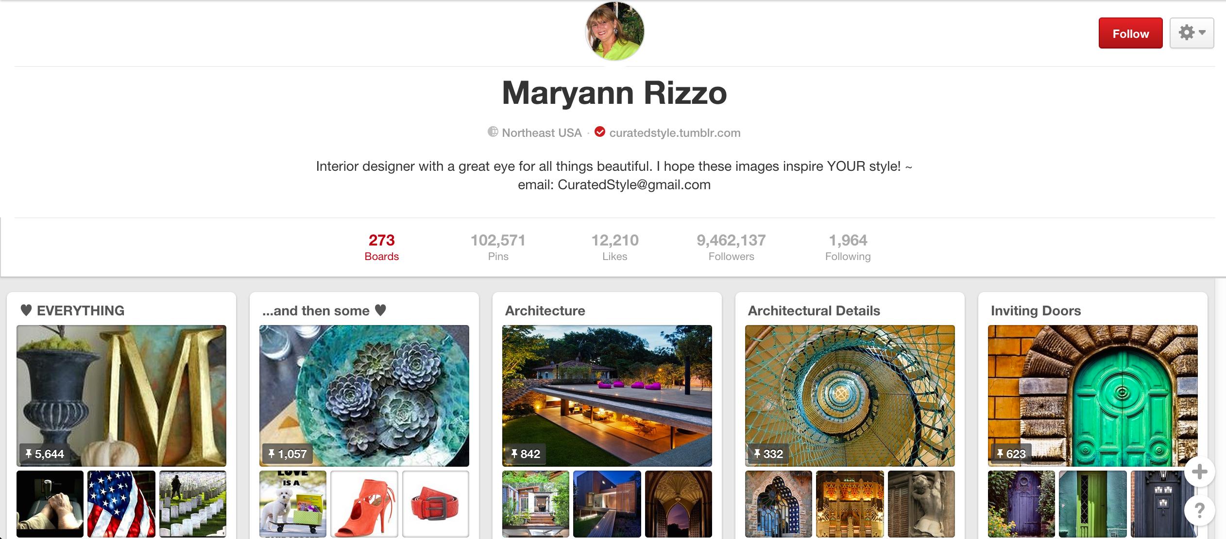Maryann Rizzo Pinterest board