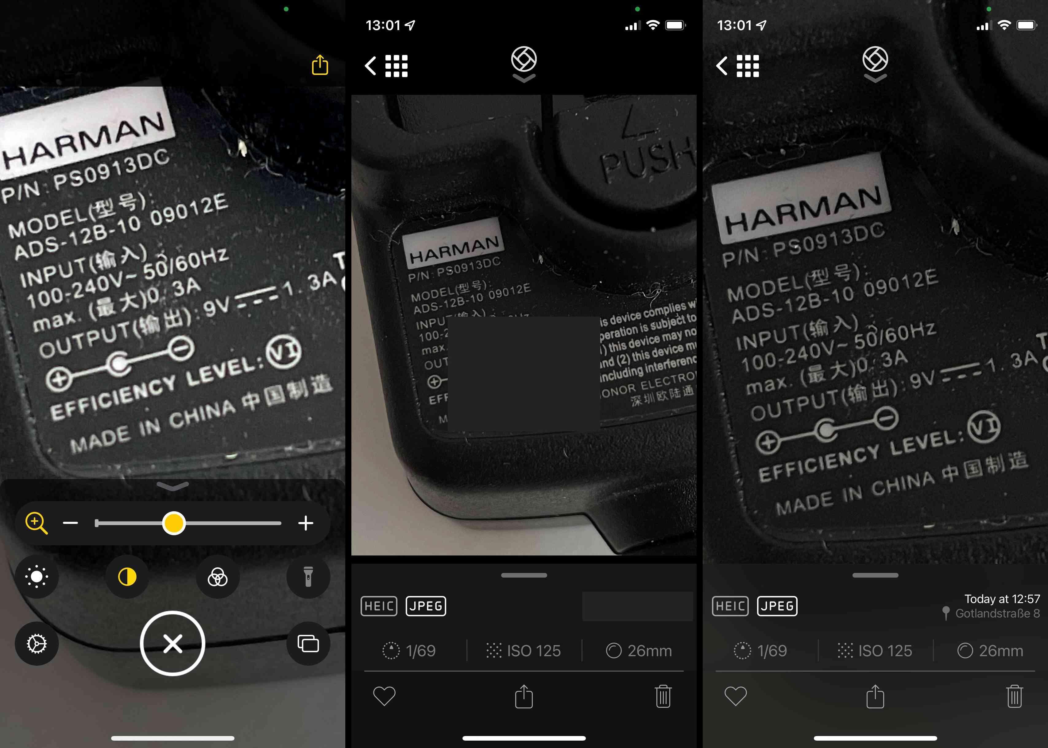 iPhone 13 Pro magnifier vs Halide camera zoom