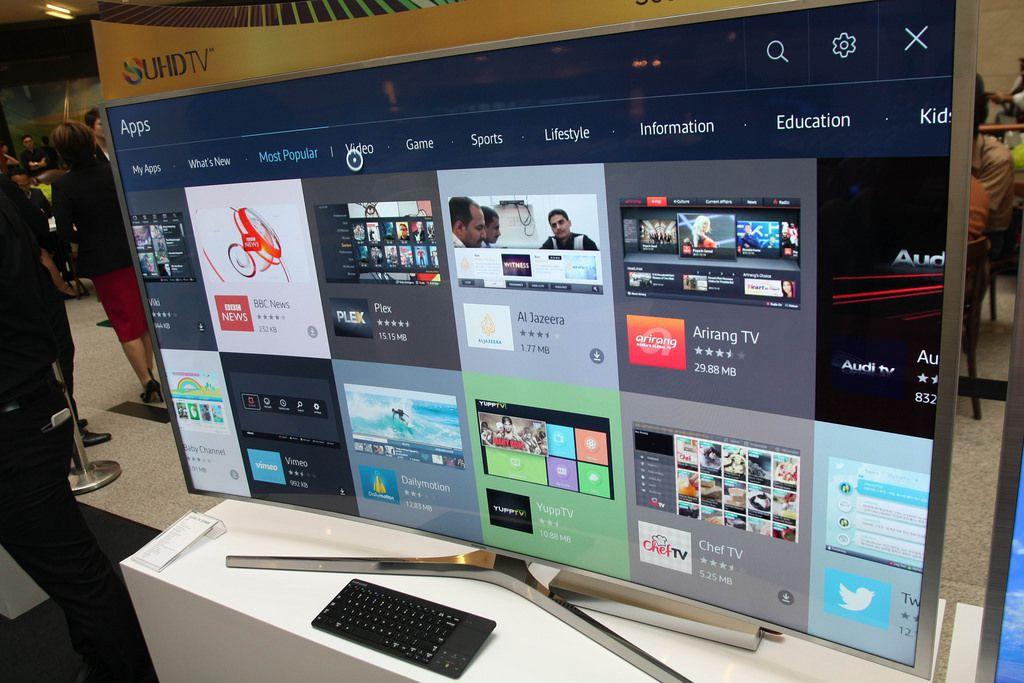 A Samsung TV on display