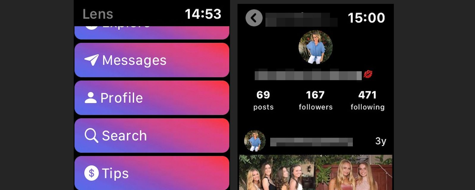 Tap Profile to go to your profile page.