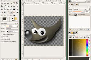screenshot of Link Layers in GIMP