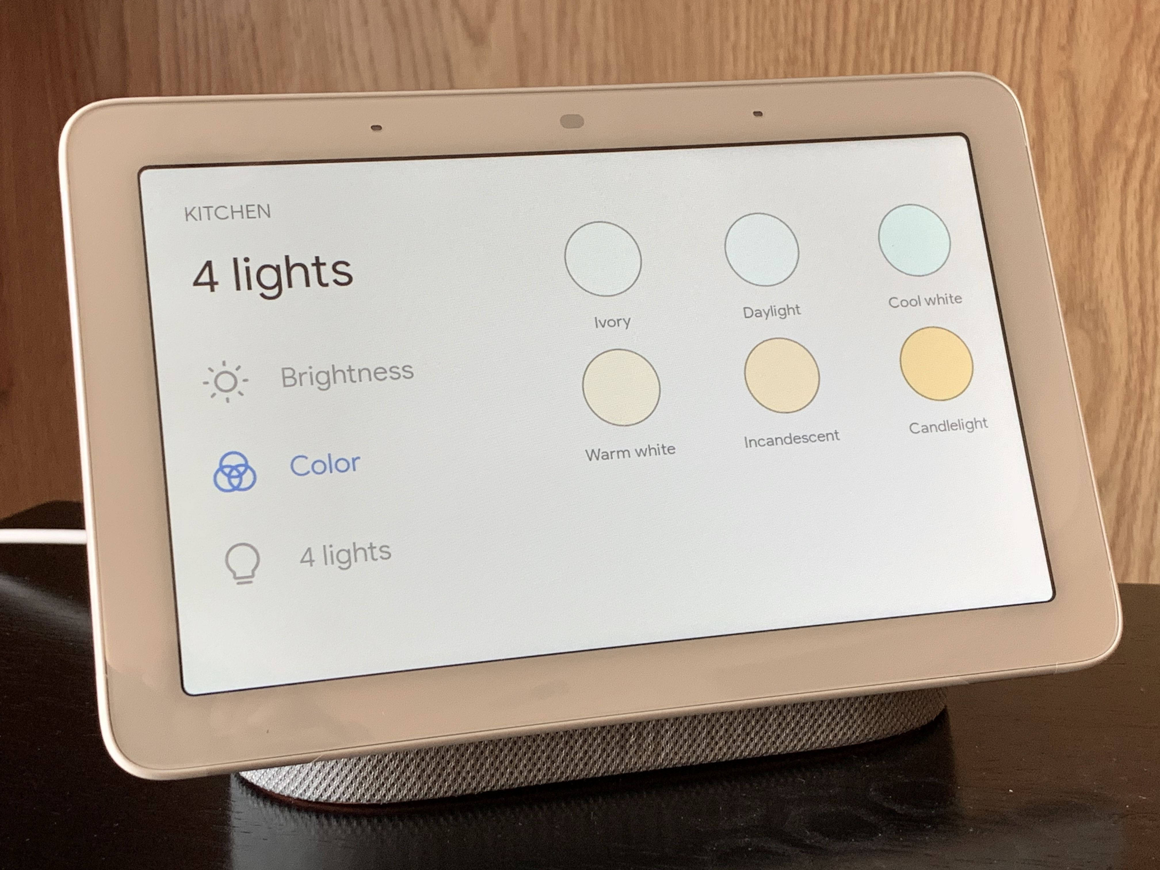 b4bdf3442356 Once you tap a device like a Nest Thermostat, for example, you'll get full  screen controls to control the device. Or, if lights offer color options,  ...