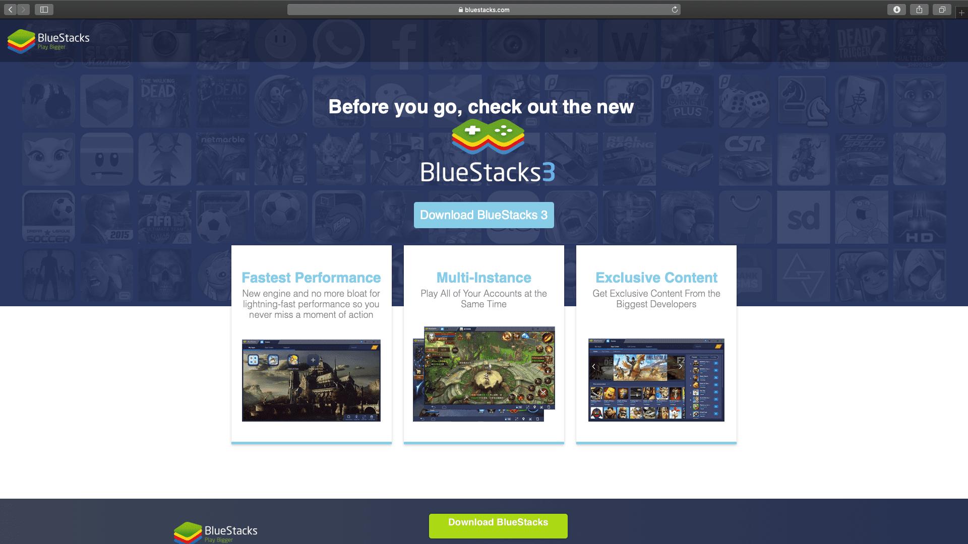 Bluestacks 3 download site