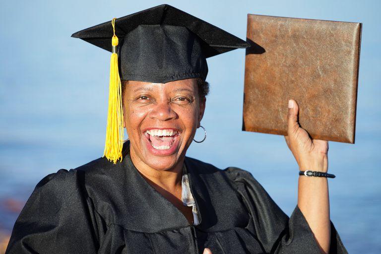 Mature Woman Graduate