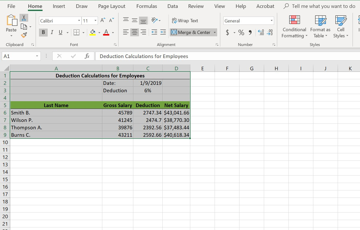 Excel's cut function highlighted in the ribbon.