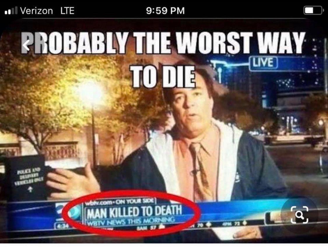 Man killed to death meme