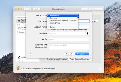 how to login as an administrator on mac