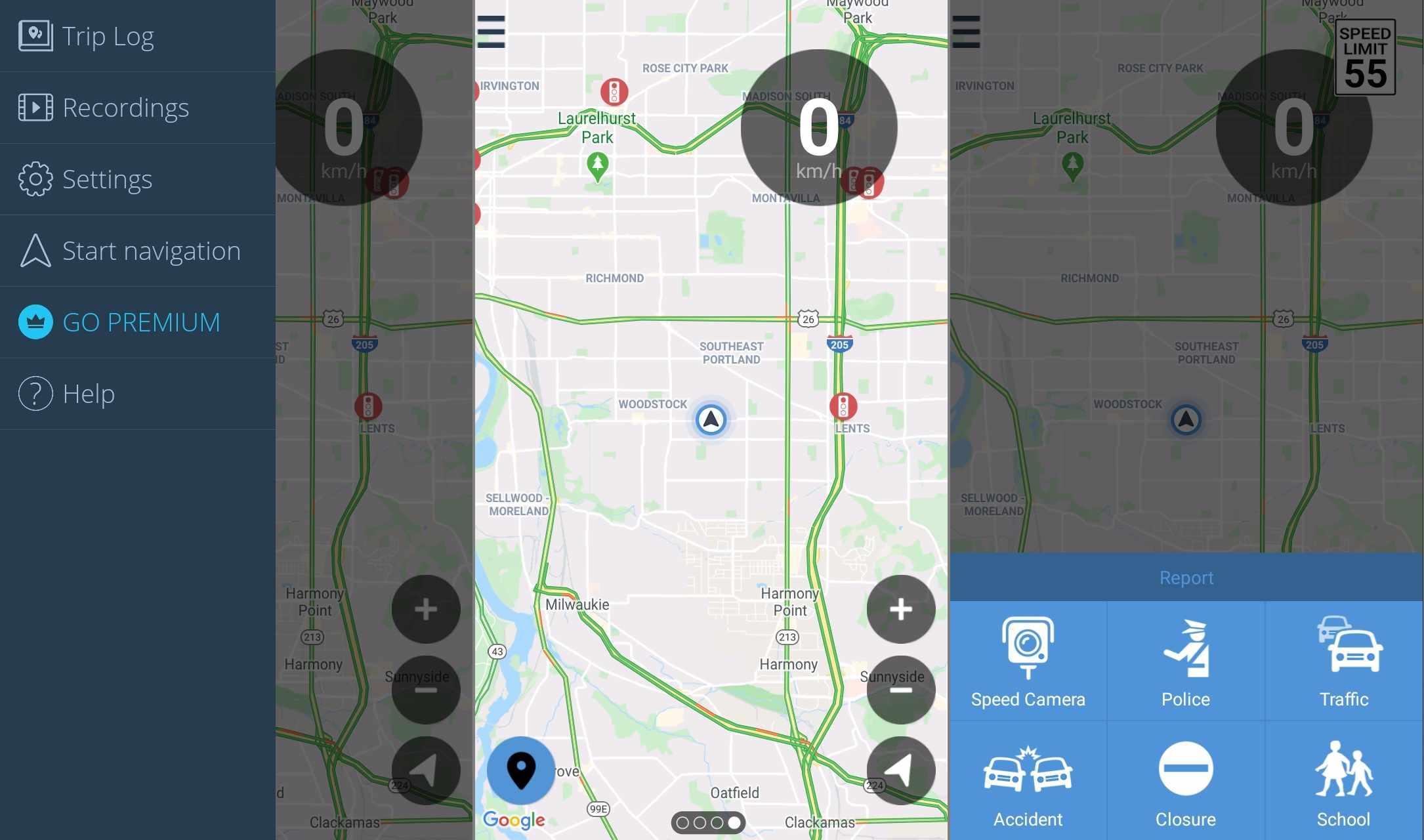 Speed Cameras & Traffic Android app