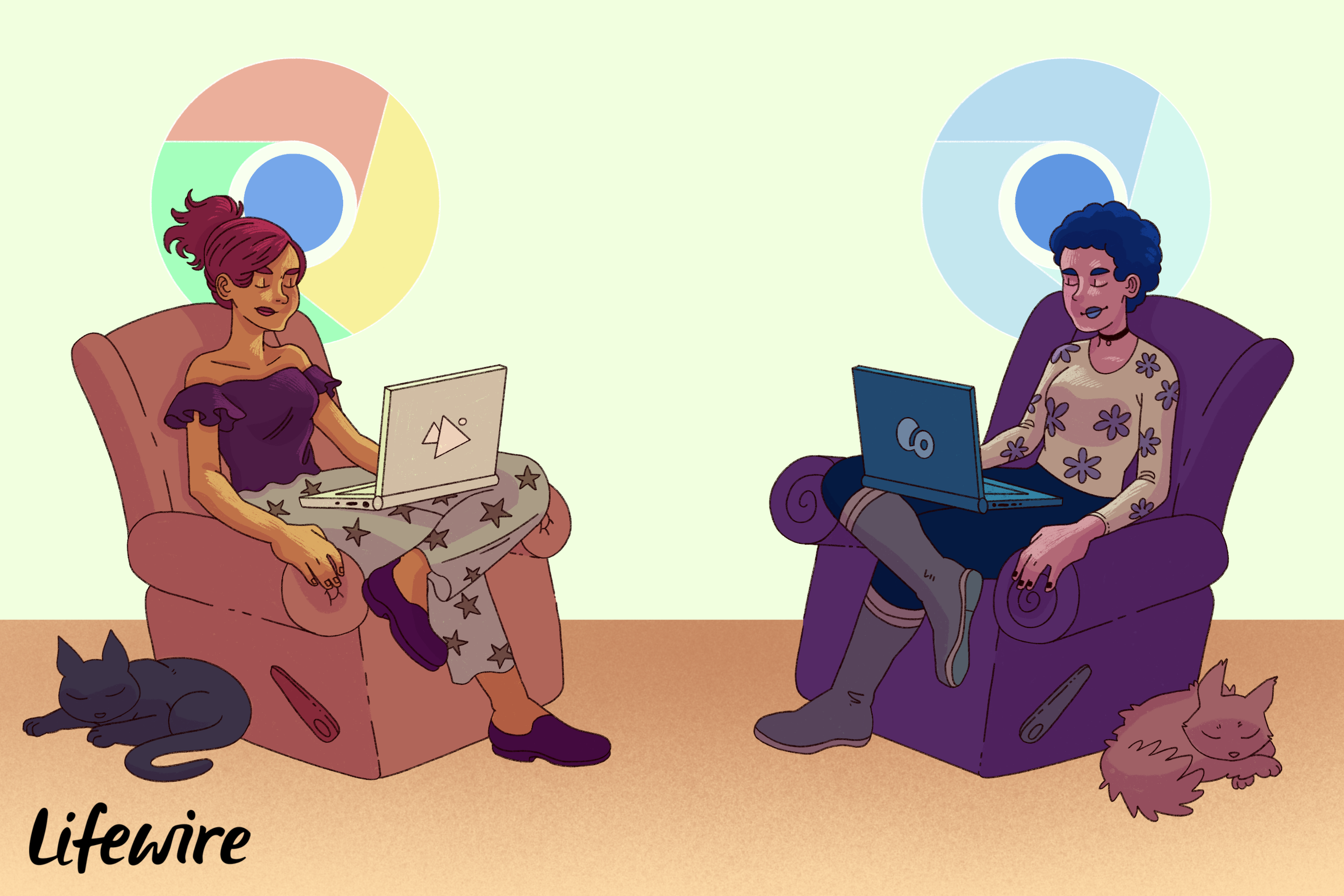Two people using either Chrome or Chromium browsers
