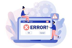 Error message on screen