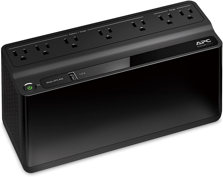 APC UPS, 600VA UPS Battery Backup & Surge Protector, BE600M1