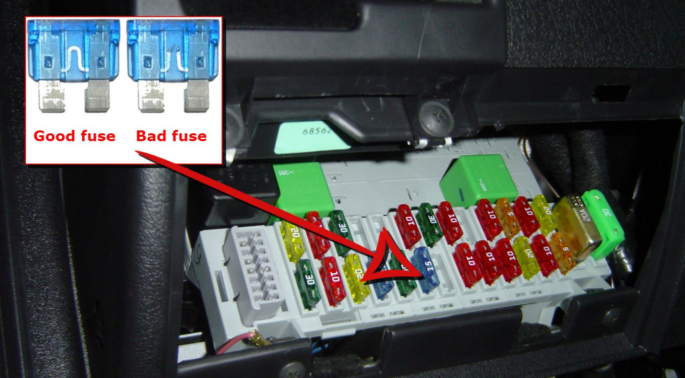 How To Fix A Broken Car Window Bad Fuse 30 Amp Box With Good And Blown Examples
