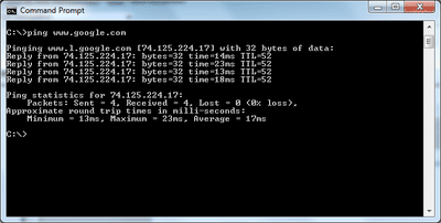 screenshot of a Command Prompt