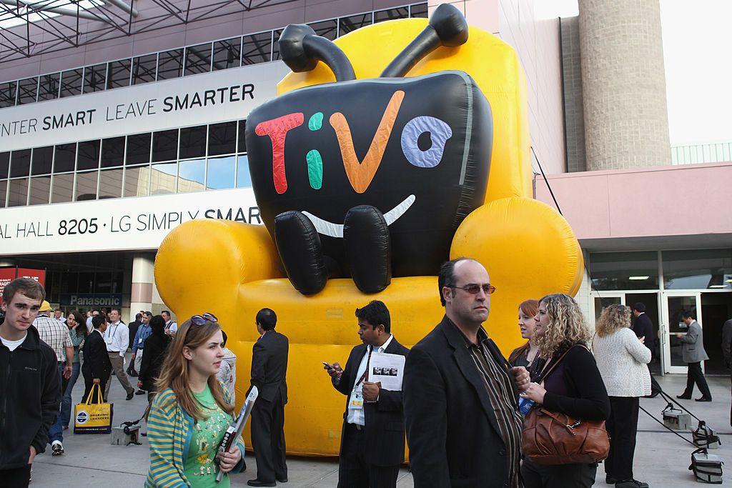 giant inflatable TiVo logo