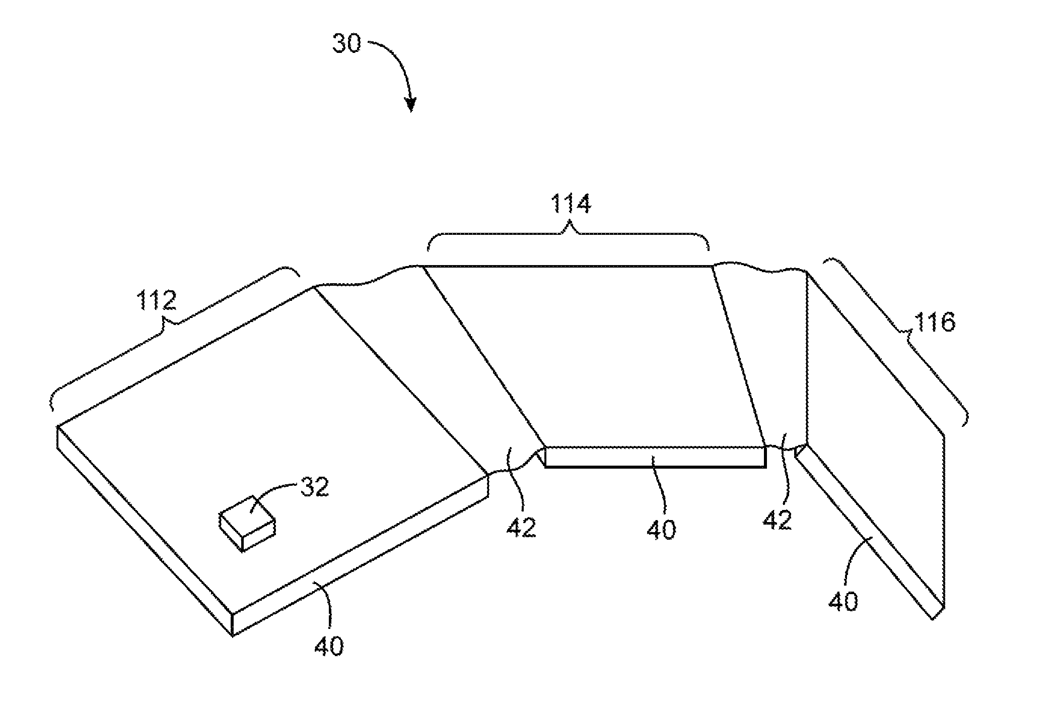 Foldable device illustration from patent US8929085B2