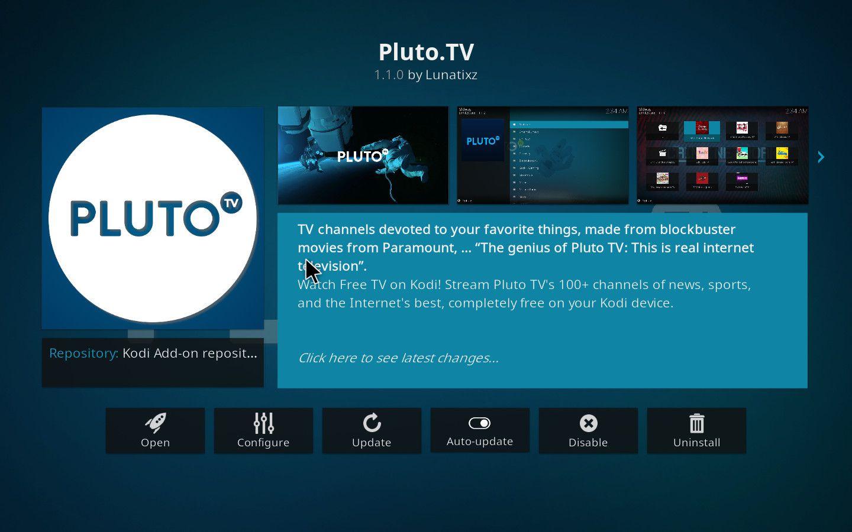 Pluto TV Kodi Add-on