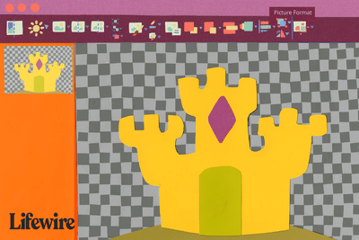 Image of a castle with the background removed in Powerpoint