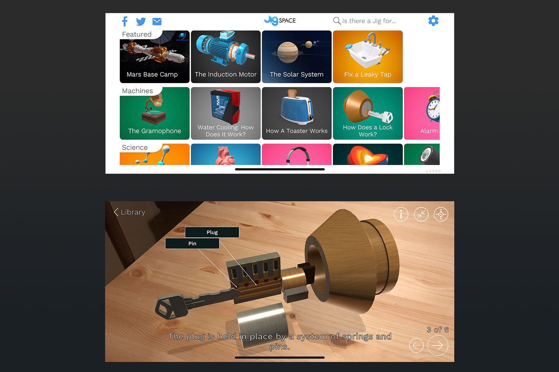 Screenshot of Jig Space app
