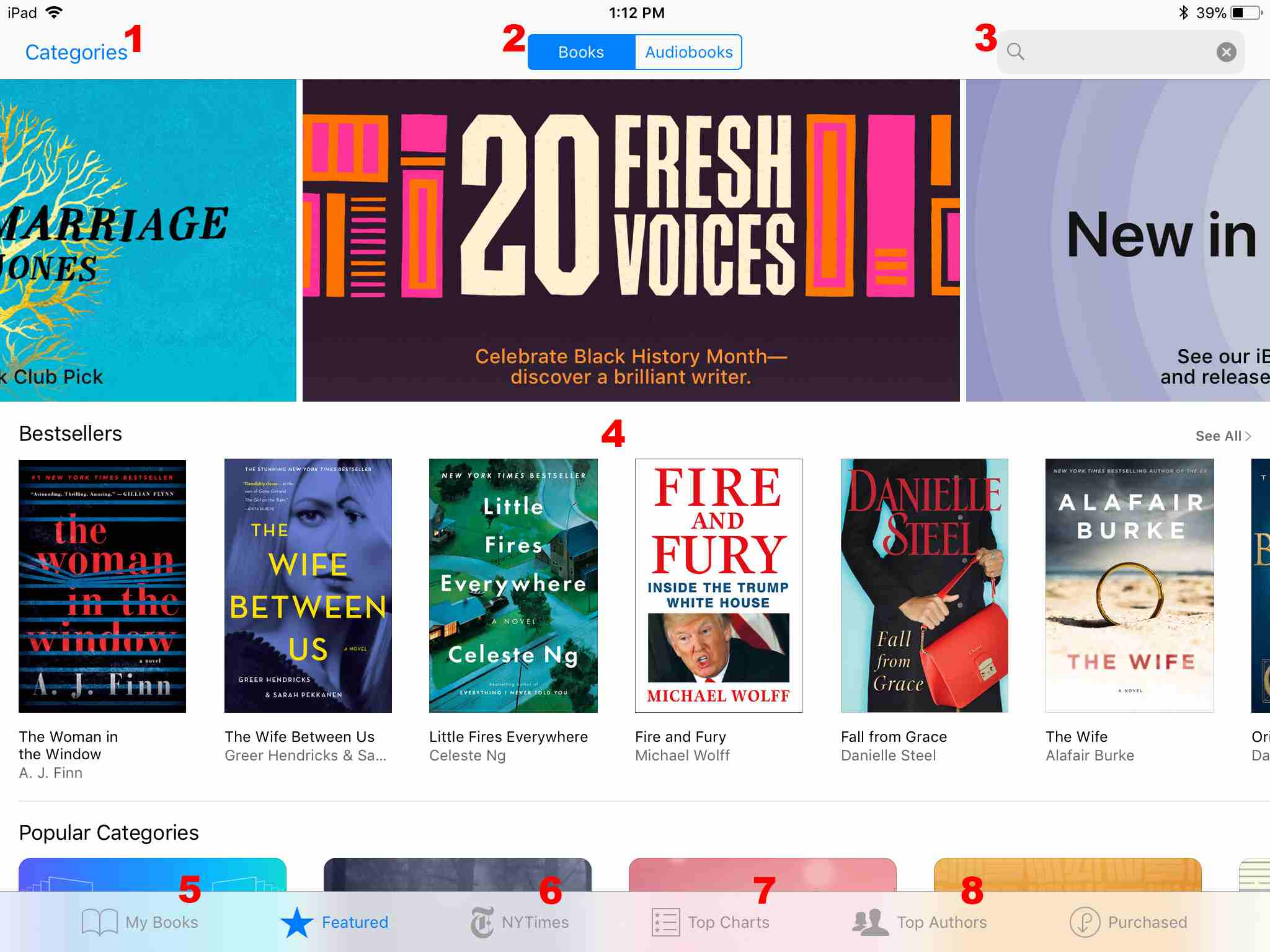 Browse or Search eBooks at the iBooks Store