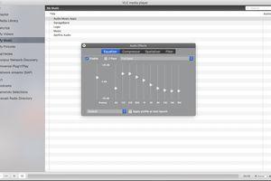VLC Media Player Equalizer