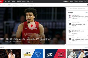 ESPN Watch page