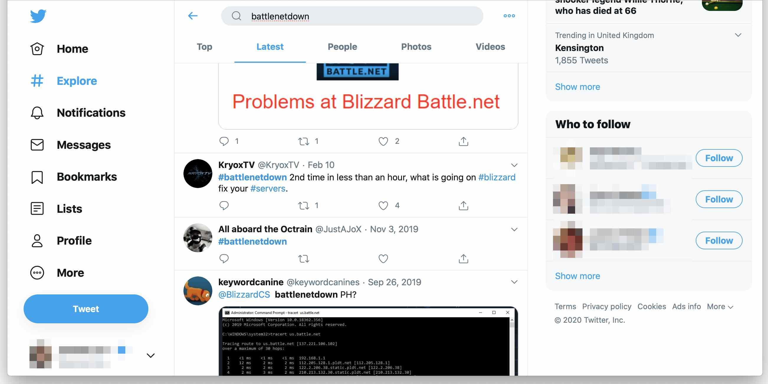 Battlenetdown hashtag on Twitter