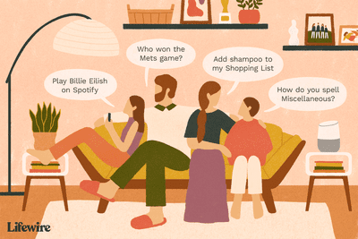 Family asking Google Home questions