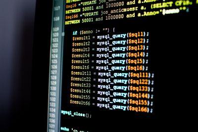 A mysql_query on computer screen