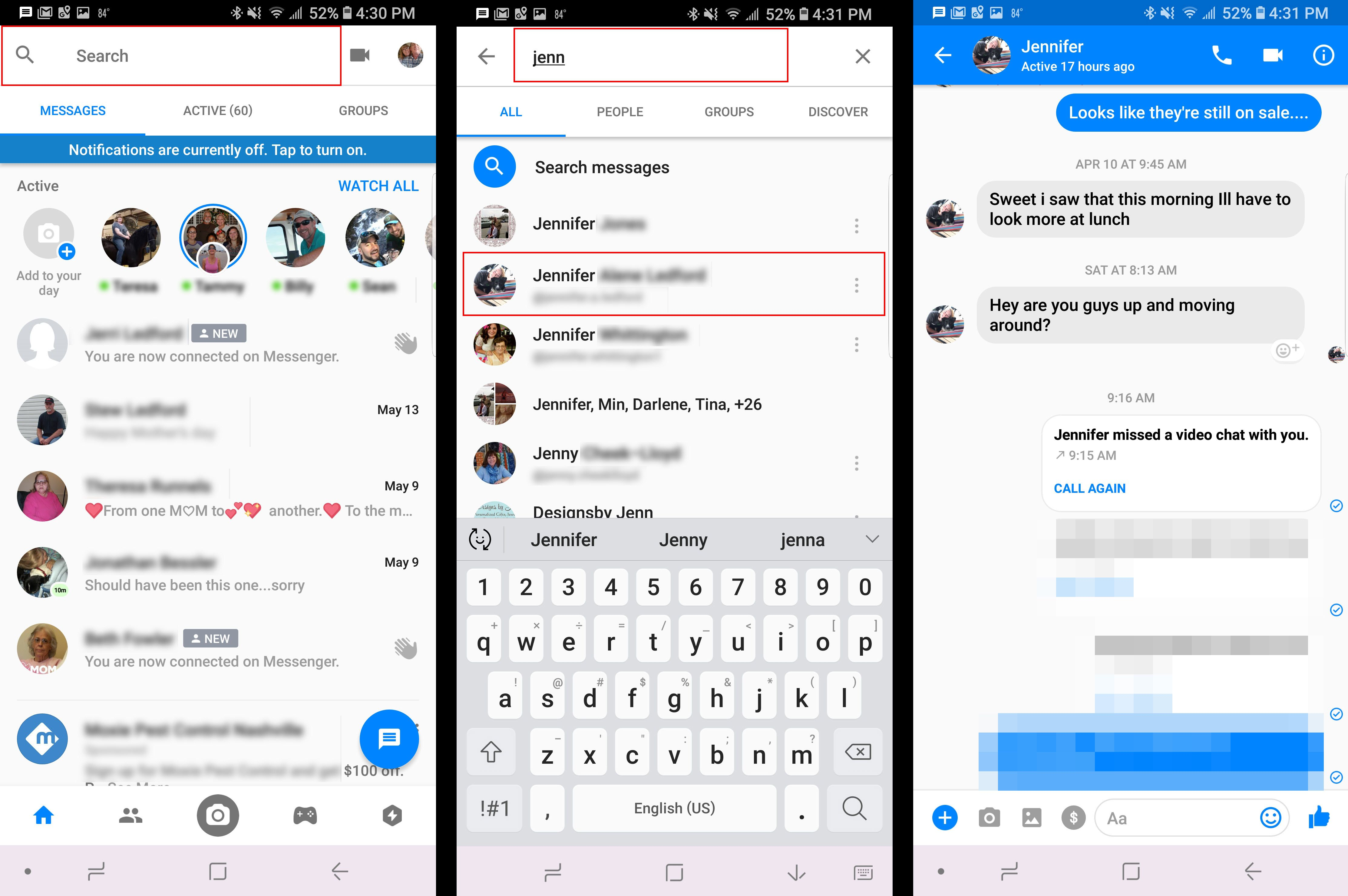 how to delete archived messages on messenger