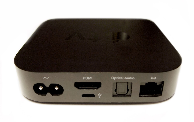Back panel of 2nd generation Apple TV.