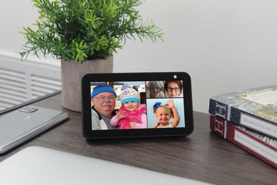 Placing a group call on Echo Show.
