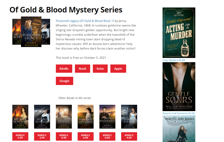 Freebooksy mystery series download