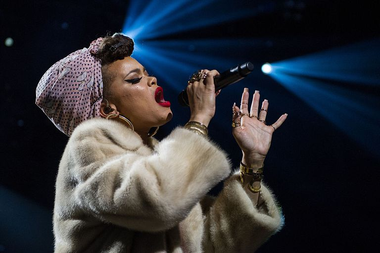 Andra Day performs at The Apple Music Festival