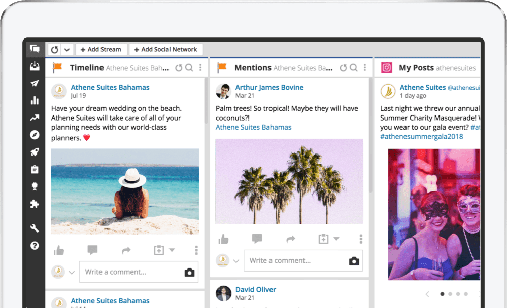 A Twitter timeline in the Hootsuite app
