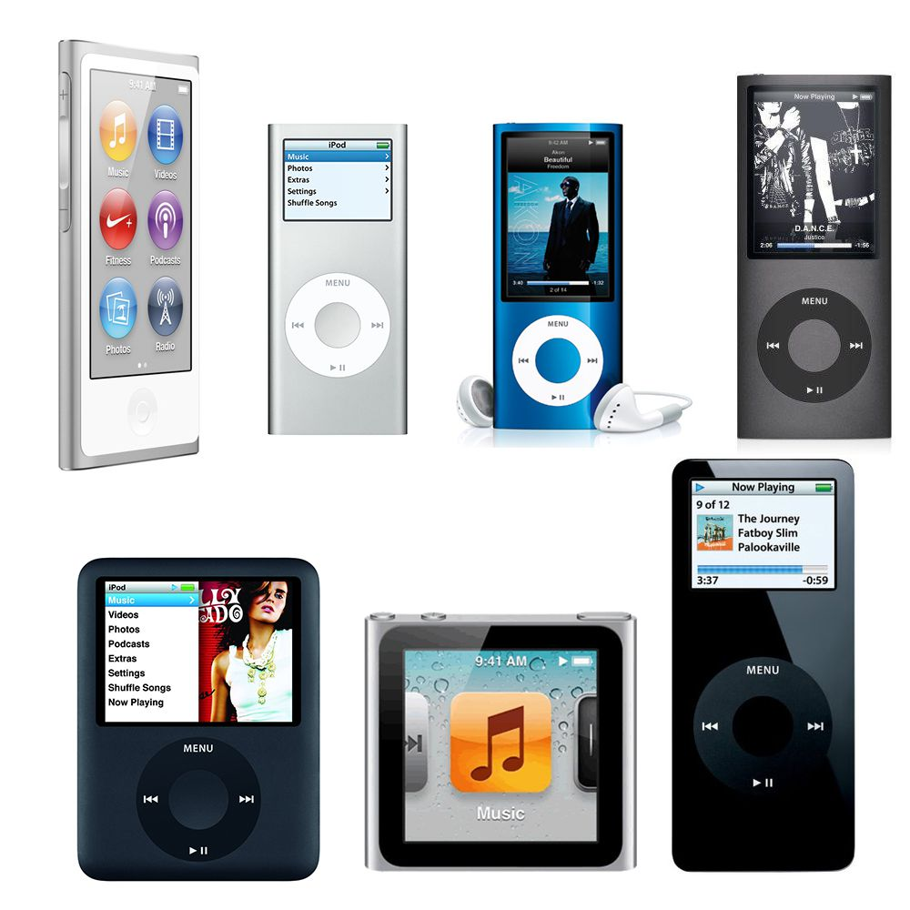 how has the ipod nano changed over time. Black Bedroom Furniture Sets. Home Design Ideas
