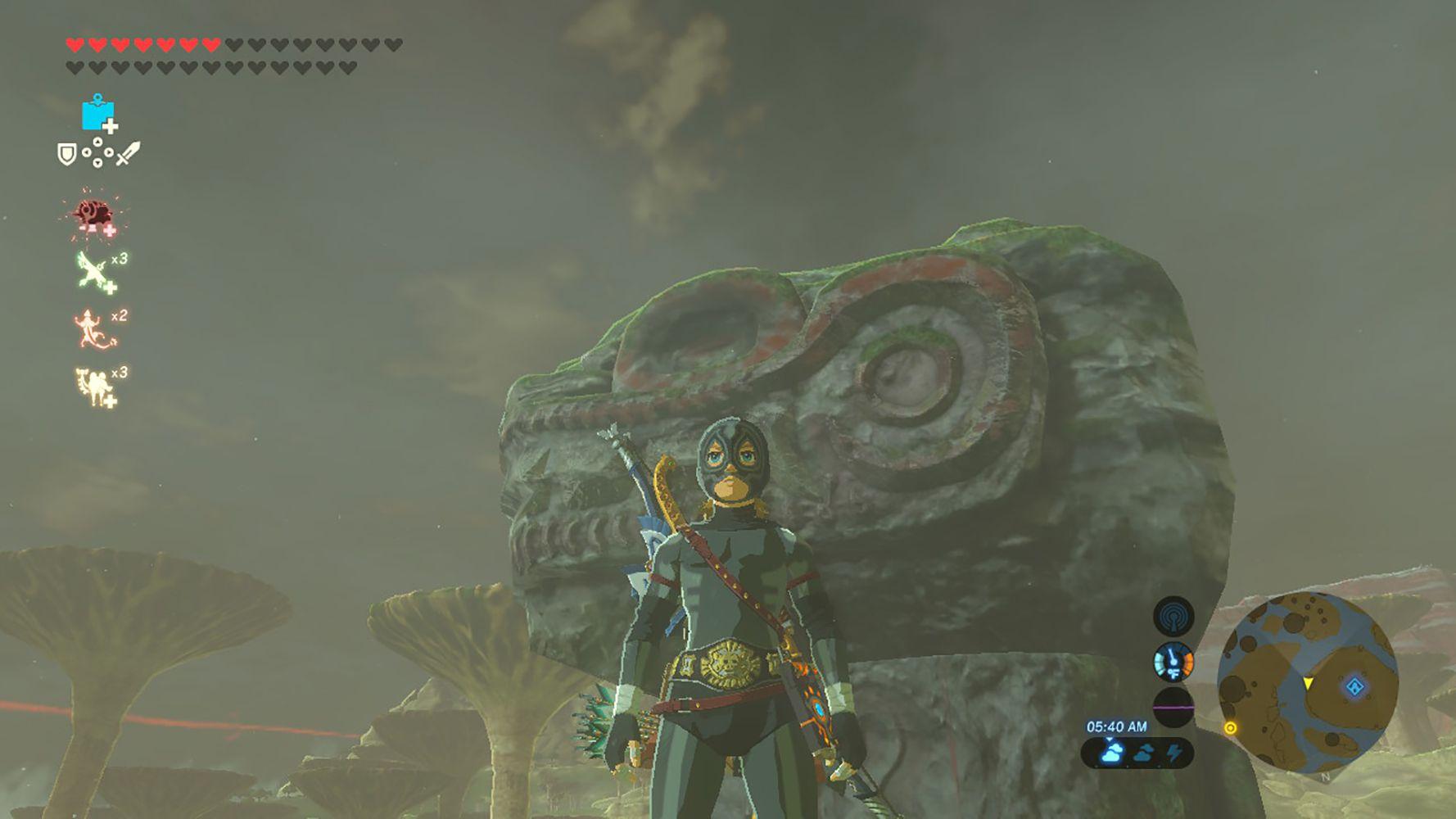 Screenshot of the Radiant Armor in Zelda: BOTW