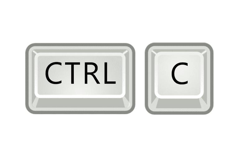 Illustration of the Ctrl-C keys