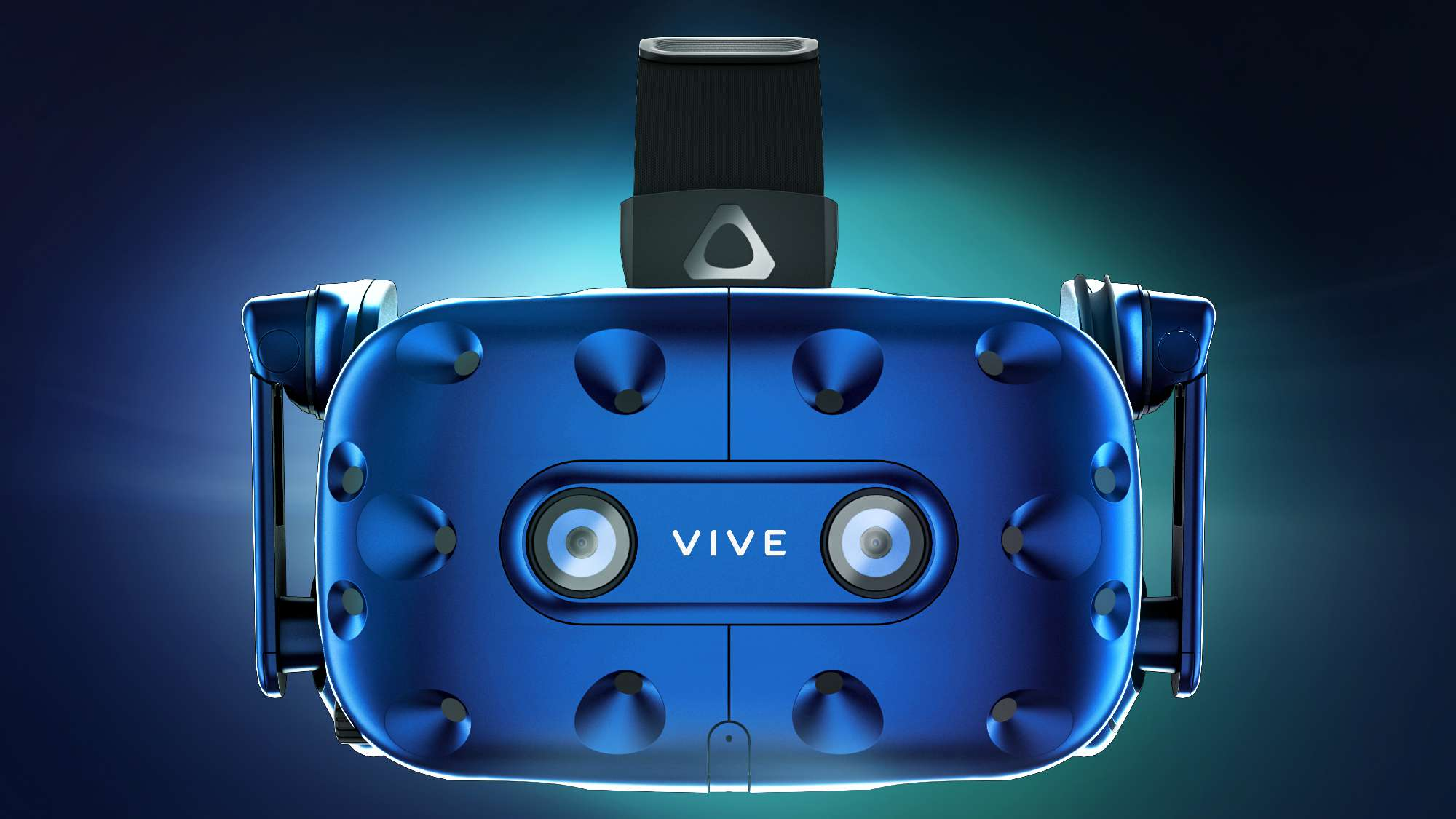 Blue Vive Pro VR headset