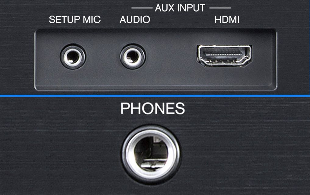Onkyo TX-NR787 Home Theater Receiver – Front Panel Inputs and Headphone Jack