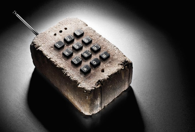 A phone made of brick