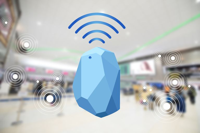 Illustration of a bluetooth beacon in mall