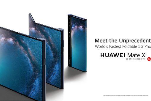 Huawei Mate X foldable smartphone.