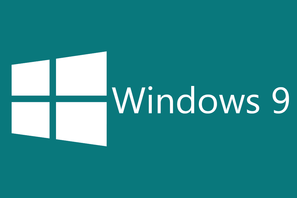 Picture of the Windows 9 logo (unofficial).