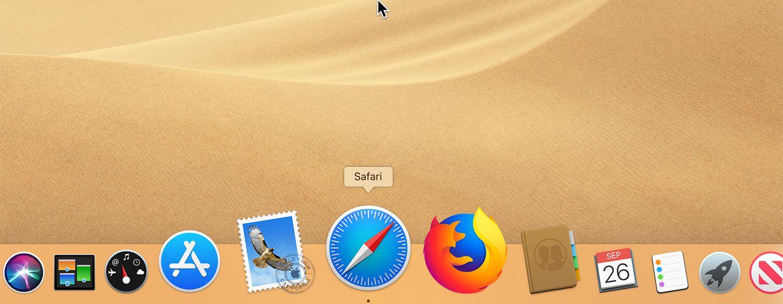 The Safari icon in the Mac Dock