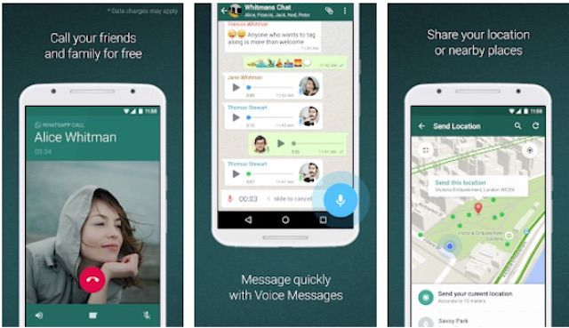 WhatsApp Android video chat app
