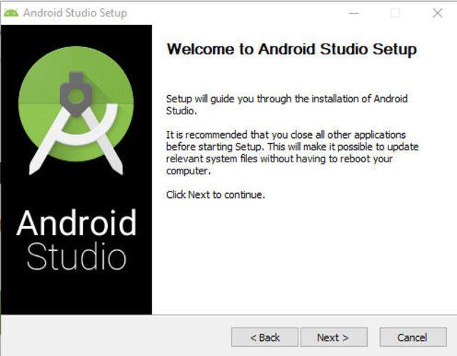 screenshot of Android Studio Setup screen