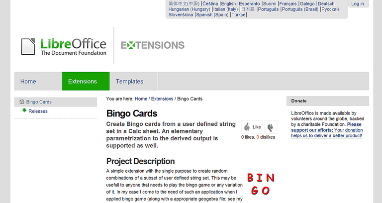 Expand libreoffice with free extensions for school bingo cards extensions or add ins for libreoffice calc reheart Image collections