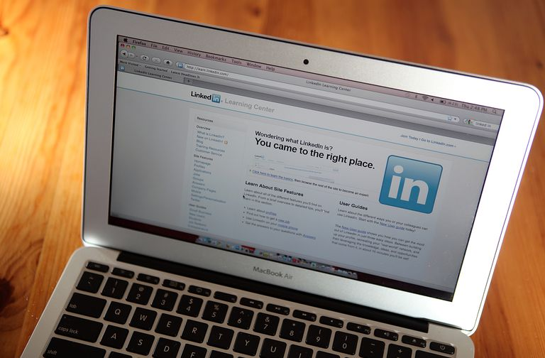 An image of LinkedIn.com on a laptop.